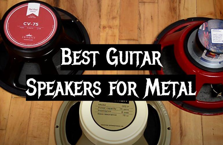 5 Best Guitar Speakers for Metal